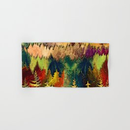 Abstract Mountain Landscape  and forest Digital Art Hand & Bath Towel