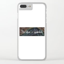The Future is Genderless Clear iPhone Case