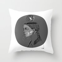 beast Throw Pillows featuring BEAST by alecaballero