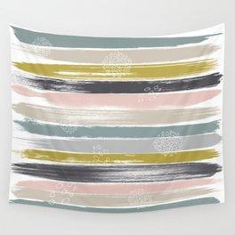 Fragments, Brushstrokes and Circles Wall Tapestry