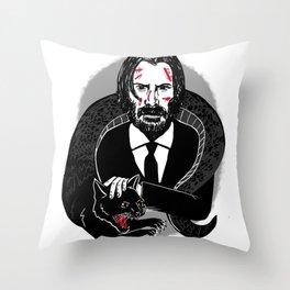 John Wick and the Tatzelwurm Throw Pillow