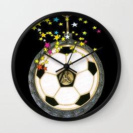 All Star Soccer Medal Wall Clock