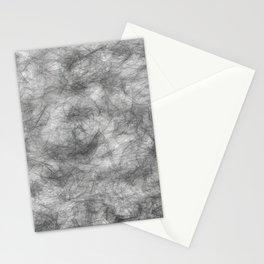 white / black smoke/ nicotine addiction Stationery Cards