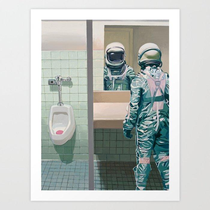 Men's Room Art Print