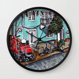 Vespa Street Wall Clock