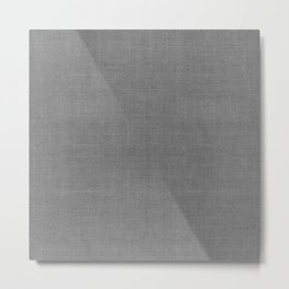 DESERT LINEN MUDCLOTH . STORM Metal Print