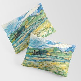 Mountain Lanscape behind the hospital saint paul by Vicent Van Gogh Pillow Sham