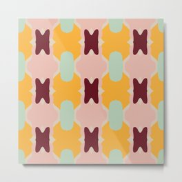 Abstract Flower Pattern Metal Print