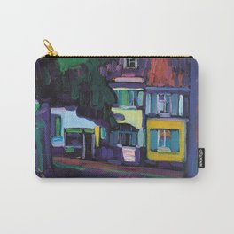 Wassily Kandinsky - Murnau  Houses In The Obermarkt. Carry-All Pouch