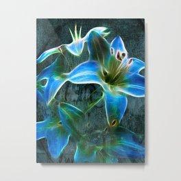 Lily Blue Metal Print