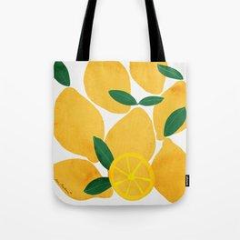 lemon mediterranean still life Tote Bag