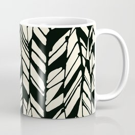 black and white feather texture Coffee Mug