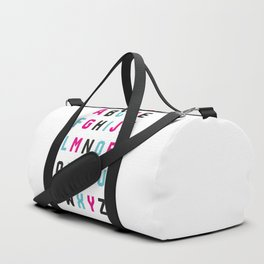Typography Alphabet #1 Duffle Bag