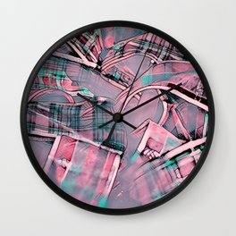Another modern moment,pink Wall Clock