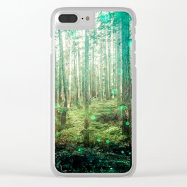 Magical Green Forest - Nature Photography Clear iPhone Case