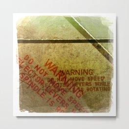 warning Metal Print