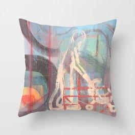 Across Town Throw Pillow