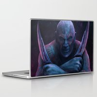thanos Laptop & iPad Skins featuring Drax and Thanos by Jaime Gervais