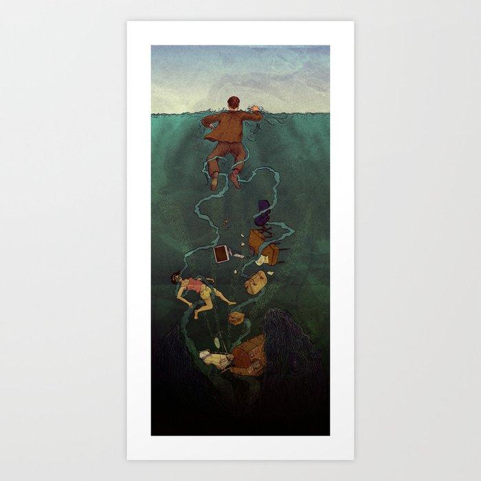 At Sea. Art Print