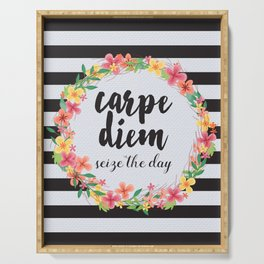Carpe Diem / Seize The Day Quote Serving Tray