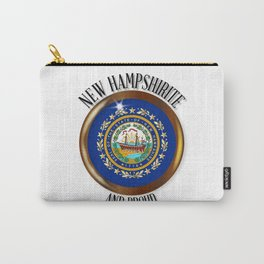 New Hampshire Proud Flag Button Carry-All Pouch