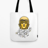stay gold Tote Bags featuring Stay Gold by Amanda Marie Bell