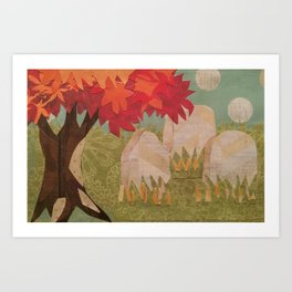 Cemetery 004 Art Print