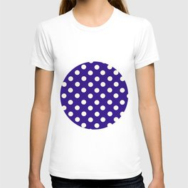 Polka Dot Party in Blue and White T-shirt