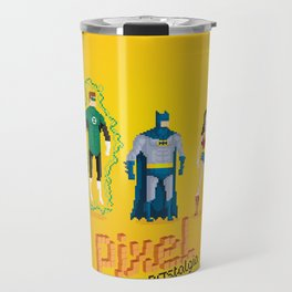 Justice League of America - Pixel Nostalgia Travel Mug
