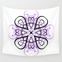 PURPLE SACRED GEOMETRY Wall Tapestry