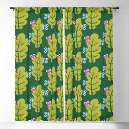 Bugs Eat Green Leaf Blackout Curtain