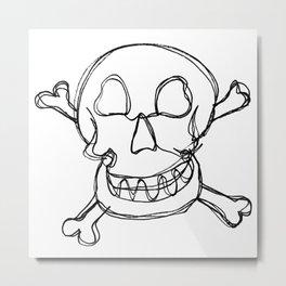 Skull n' Bones Metal Print