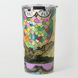 The Jeweled Gumball Owl Travel Mug