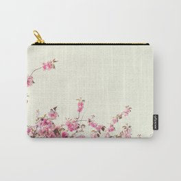 Cherry Blossoms over white Carry-All Pouch