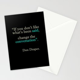 Mad Men Quotes Stationery Cards