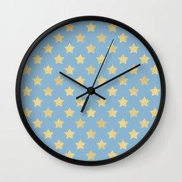 The Golden Stars Pattern II Wall Clock