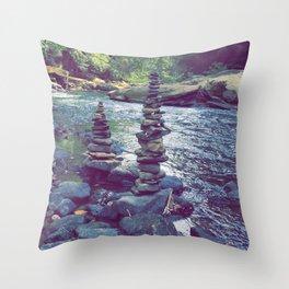 The Zen River Throw Pillow
