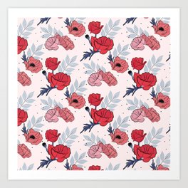 Floral crib sheet Art Print