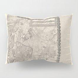 Jacques Gomboust - Map, Plan and Descriptions of Paris, Northeast (1652) Pillow Sham