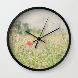 wild flowers ... Wall Clock