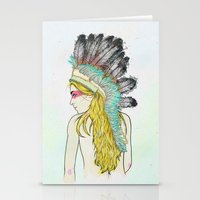 hunting Stationery Cards featuring Hunting // by Lukka