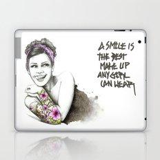 tattoo girl 1 Laptop & iPad Skin