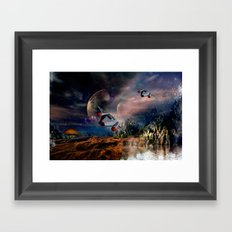Planetary Encounter Framed Art Print