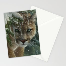 Cougar / Mountain Lion - Frozen Stationery Cards
