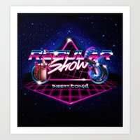 regular show Art Prints featuring Regular 80's Show by Gazulo Marquez