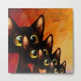 Cat Family Metal Print