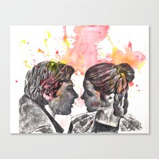 Han Solo and Princess Leia from Star Wars Canvas Print