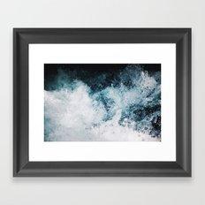 Blue Swells Framed Art Print