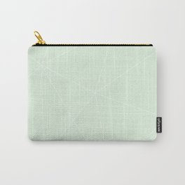 White on Mint Carry-All Pouch