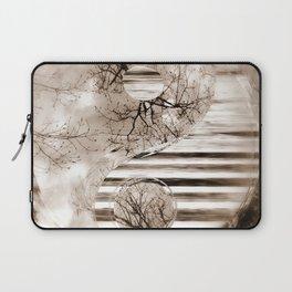 Yin Yang softness and sepia Laptop Sleeve